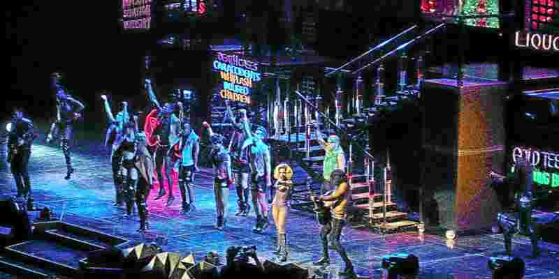 Lady Gaga on tour in the world